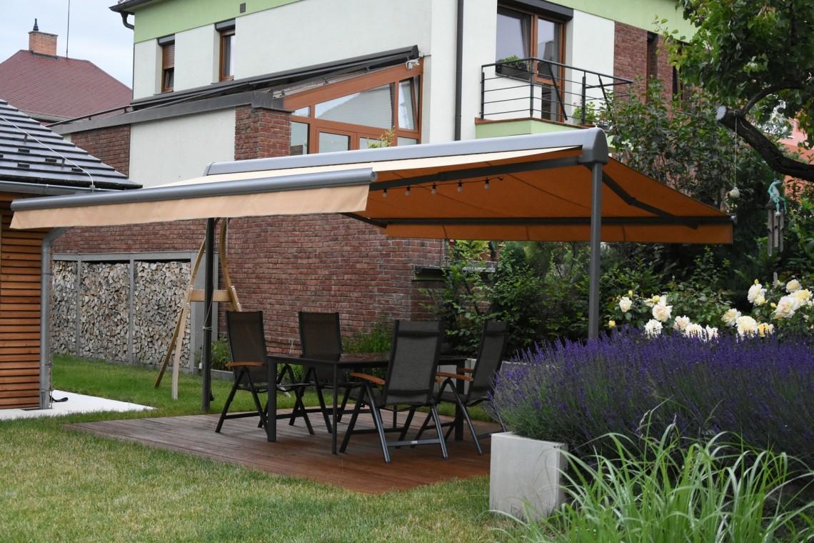 Freistehende Terrassenmarkise