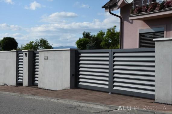 Zweiflügeliges Aluminiumtor und -pforte Nova - Prievidza,…